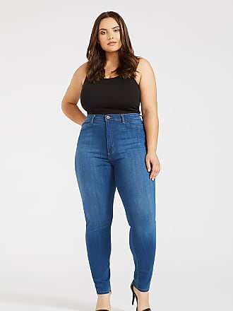 Alloy Apparel Plus Size Skinny Jean-Legging Medium Blue 1XL/32 - Rayon