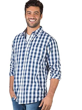 Taco Camisa Xadrez Manga Longa Azul Marinho Azul Marinho/GGG