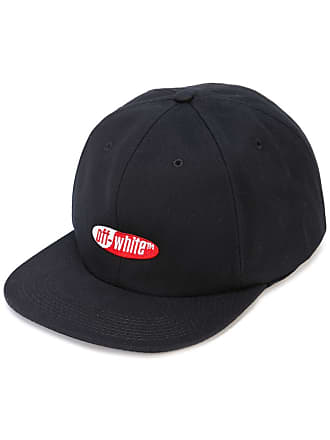 Off-white embroidered logo cap - Black