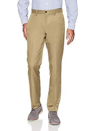 Amazon Essentials Mens Slim-Fit Flat-Front Dress Pants, Khaki, 32W x 34L