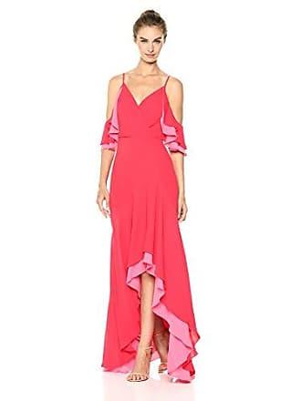 Bcbgmaxazria BCBGMax Azria Womens Surplice High-Low Evening Dress, LIPSTICKREDCOMB, 2