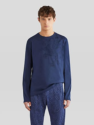 Etro Long-sleeved Embroidered T-shirt, Man, Size XXL