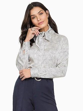 Principessa Camisa Social Feminina de Cetim Principessa Franciane