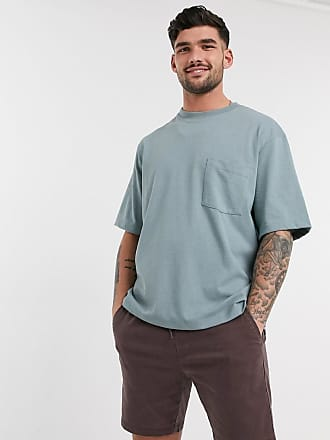 Topman Kastiges T-Shirt in Blau