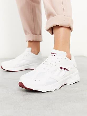 Reebok Reebok Aztrek 93 trainers in white & merlot