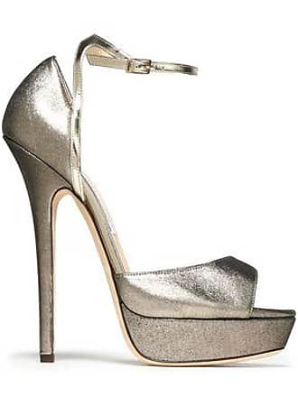 abb1b1174 Jimmy Choo London Jimmy Choo Woman Metallic Leather Platform Sandals Brass  Size 40.5