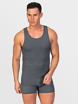 ZD Zero Defects Zero Defects dark grey cotton tank top plus size
