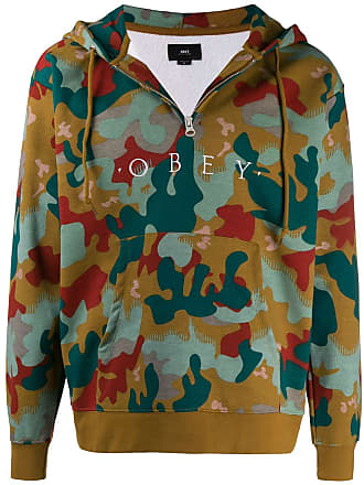 Obey camouflage logo hoodie - Green