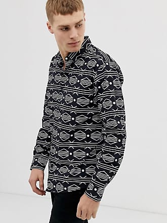 Only & Sons geo-tribal shirt - Navy