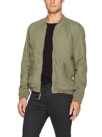 Rvca Mens All City Bomber Jacket, Burnt Olive, Small