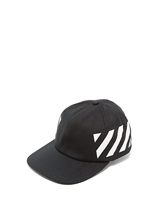 c185ba99930f05 Off-white Off-white - Diagonal Stripe Logo Cotton Baseball Cap - Mens -