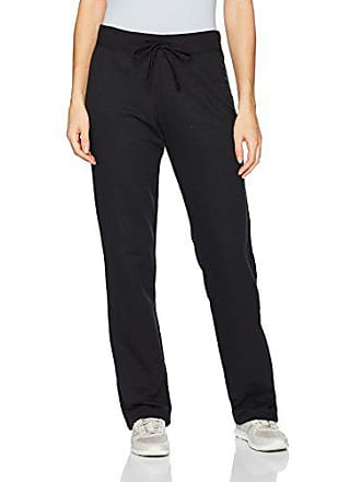 Fruit Of The Loom Womens Essentials Live in Open Bottom Pant, Black, X-Large