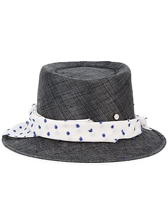 2208199ac0c Maison Michel Ed straw Hat with Polka Dot Band - Black