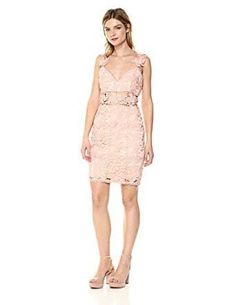 Nicole Miller Womens Ruby Lace Sweetheart Dress, Powder Blush 4
