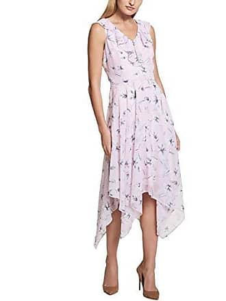 Kensie Dress Womens MIDI Floral Printed Dress, Blush Multi 14