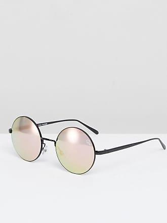 Quay Eyeware Electric Dreams - Lunettes de soleil rondes à verres miroir -  Noir - Noir 08d0ce19579a