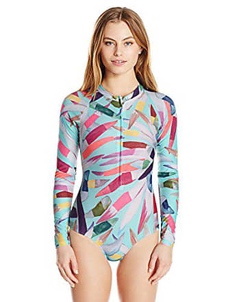 2e919438c5 Mara Hoffman Womens Marimba Zip Front Long Sleeve One Piece Swimsuit