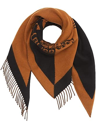 Burberry The Burberry Bandana in Crest Detail Wool Cashmere - Brown