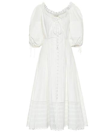 Jonathan Simkhai Puff-sleeve cotton midi dress