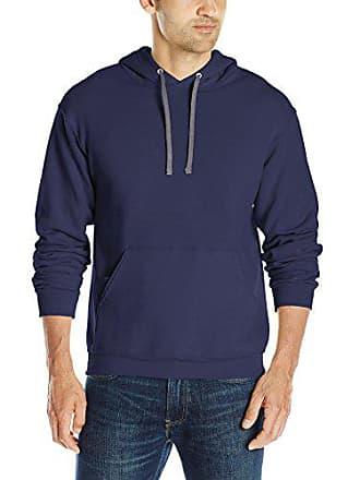 Fruit Of The Loom Mens Hooded Sweatshirt,Navy,Small