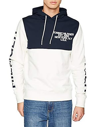 8081c214 Tommy Hilfiger Nautical Hoody, Sweat-Shirt À Capuche Homme, Blanc (Snow  White