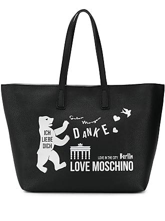 Love Moschino Bolsa tote Berlin com estampa - Preto