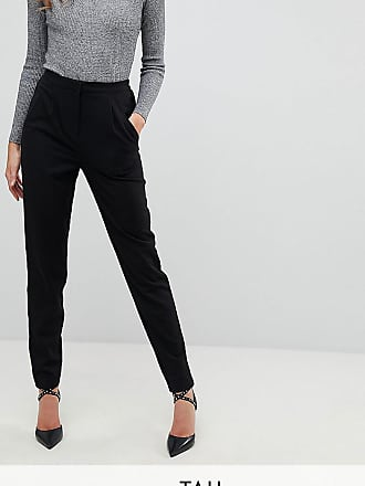 Y.A.S. Tall tailored trouser with elasticated waist in black