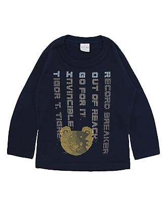 Tigor T. Tigre Camiseta Tigor T. Tigre Menino Escrita Azul-Marinho