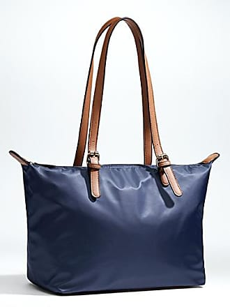 Simons Faux-leather accents nylon tote
