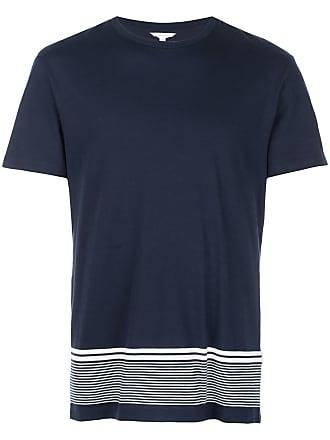 Orlebar Brown Camiseta com detalhe de listras - Azul