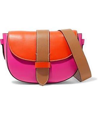 M Missoni Woman Color Block Leather Shoulder Bag Orange Size