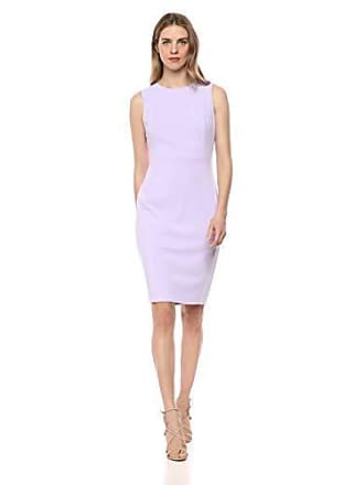 5b7bb3da05817 Calvin Klein Womens Scuba Crepe Sleeveless Princess Seam Sheath Dress