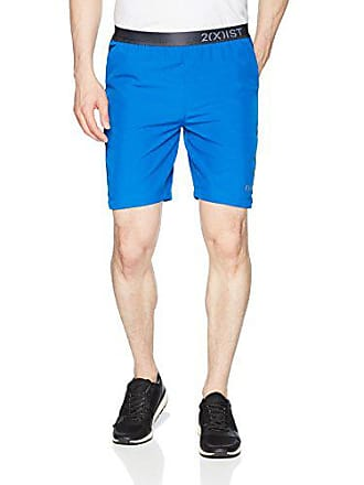 2(x)ist Mens Essential Active Short with Exposed Waistband Shorts, Lapis Blue/Black Contrast, Medium