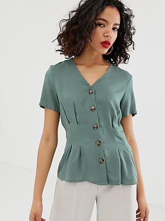 c2c50370837 Vero Moda Blouse texturée à pois avec boutonnage - Vert