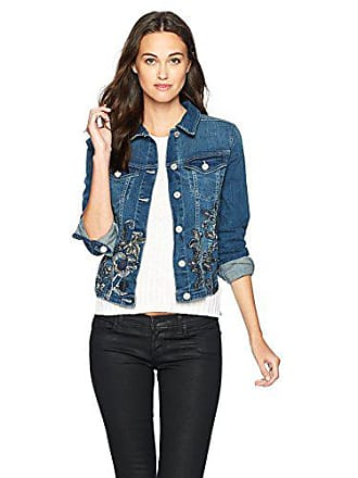 William Rast Womens Sussex Denim Jacket, Enchanted Jewel Emberoidered, S