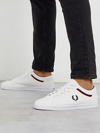 Fred Perry Baseline canvas trainers in white