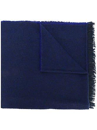 Zanone Cachecol com franjas - Azul