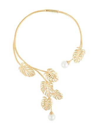 Ingie Paris leaf and pear necklace - Dourado