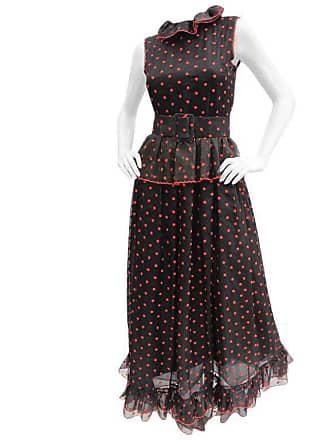 e2f68488114dcf Oscar De La Renta 1970s Oscar De La Renta Silk Organza Polka Dot Gown