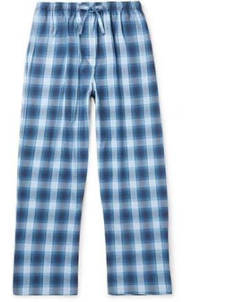 12fb77356c Derek Rose Ranga Checked Cotton-flannel Pyjama Trousers - Blue