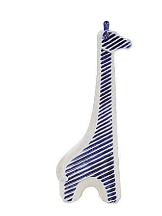 Sagebrook Home 11625 Giraffe Figurine, Blue/White Ceramic, 6.5 x 3.5 x 16.75 Inches
