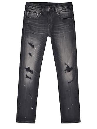 R13 Black boyfriend ripped jeans