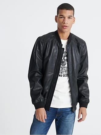 Superdry Light Leather Bomber Jacket