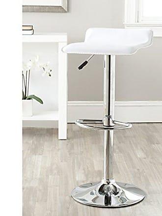 Safavieh Home Collection Sheba White Adjustable Swivel Gas Lift 22.4-30.7-inch Bar Stool