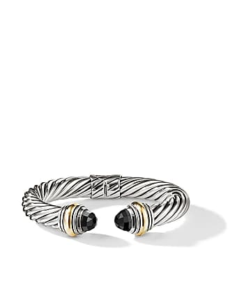 David Yurman Cable Classics 14kt yellow gold detailed and onyx 10mm cuff - S4abo