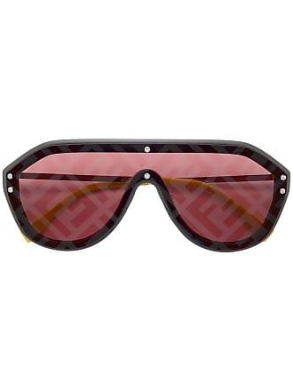Fendi aviator style sunglasses - Metallic