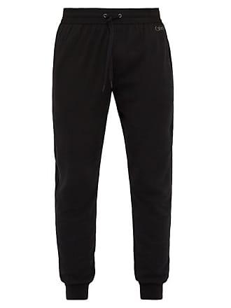 Calvin Klein Underwear Drawstring Cotton Blend Lounge Trousers - Mens - Black