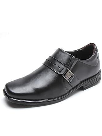 Pegada Sapato Social Couro Pegada Metal Preto