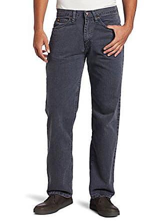 Lee Mens Regular Fit Straight Leg Jean, Thunder, 40W x 36L