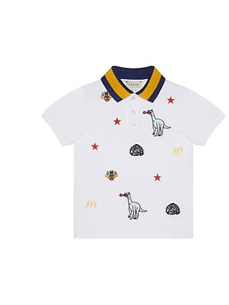 d65115b32c5 Gucci Childrens embroidered cotton polo